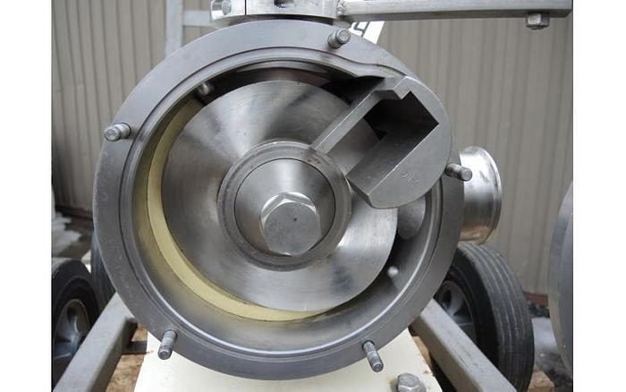 USED SINE POSITIVE DISPLACEMENT PUMP, MODEL MR135, STAINLESS STEEL, SANITARY