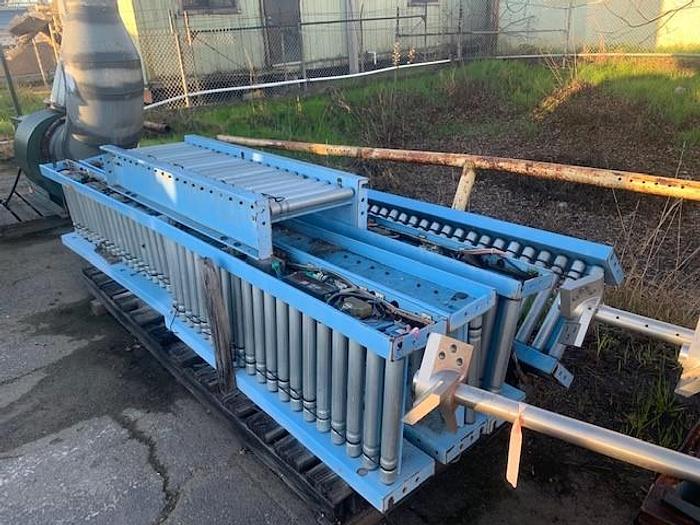 Used 45' Hytrol Powered Case Conveyor