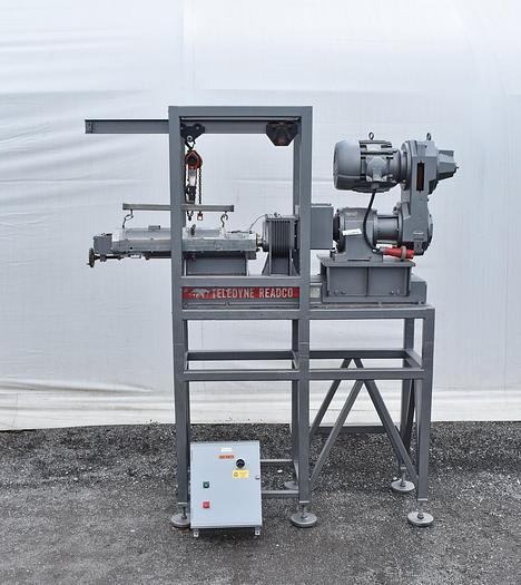 Used 5 IN. TELEDYNE READCO TWIN SCREW CONTINUOUS PROCESSOR – S/S – JACKETED (#9726)