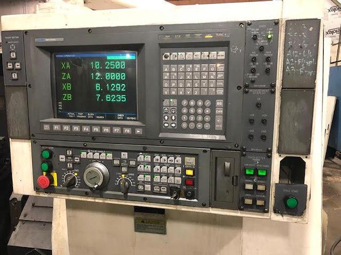 1996 OKUMA LU15 CNC Lathe, Twin Turret, Tailstock, OSP 7000L Control