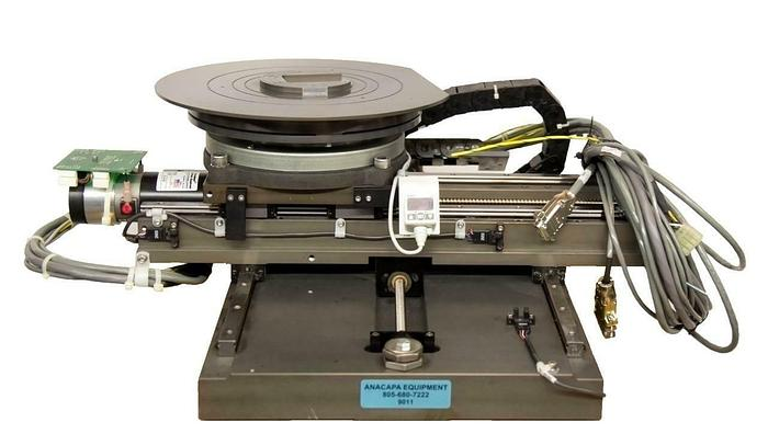 """Used Motorized XY Axis & Rotary Vacuum Stage 4"""" Wafer Inspection Chuck USED (9011)R"""