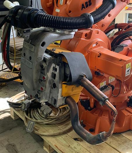 ARO 3G SERIES MODEL V146012000U SERVO SPOT WELD GUN 222MM OPENING 1300 LBS MAX. FORCE