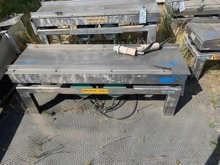 Used Cleveland Stainless Steel Vibratory Shaker Table Model FA-1860 FA-1860