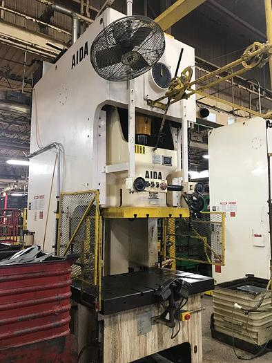 Used 220 TON AIDA SINGLE POINT GAP FRAME PRESS