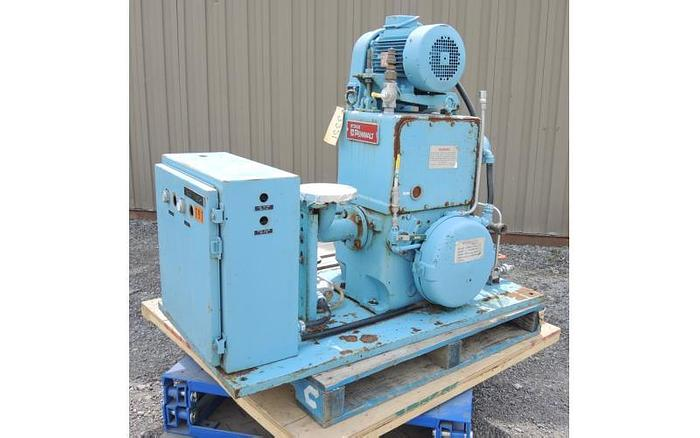 "USED VACUUM PUMP, 2"" X 1.5"" INLET & OUTLET, STOKES, 80 CFM"