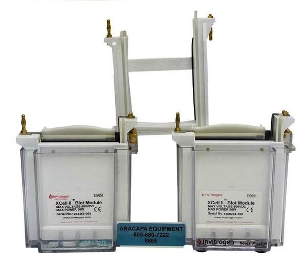 Used Invitrogen XCell Electrophoresis Novex Mini-Cell & Blot Module Lot of 2 (8665)W