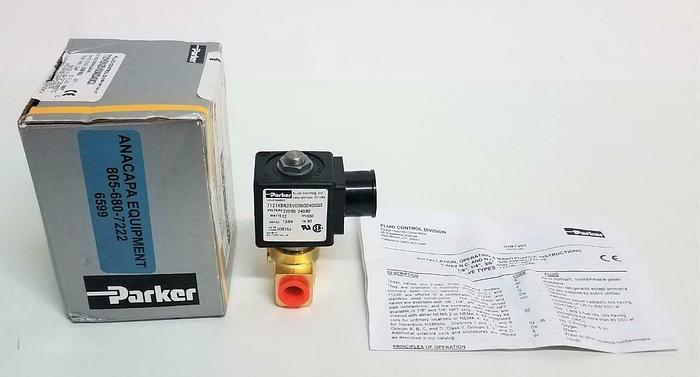 Parker Fluid Control Valve Solenoid Purge 7121KBN2SV00N0D400Q3 80PSI (6599)Z