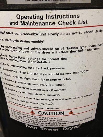 Dessicant Air Dryer