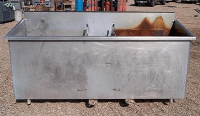 Used Stainless Steel Vat w/ 3 Compartments