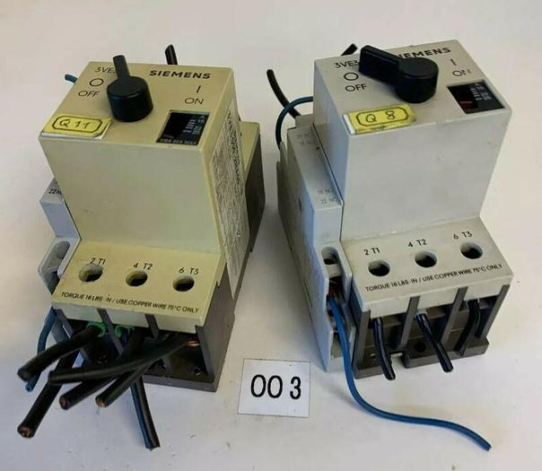 Used Siemens 3VE3000-2NA00 starter W/ 3VE9 301-1AA00 (Lot Of 2) Fast Shipping!