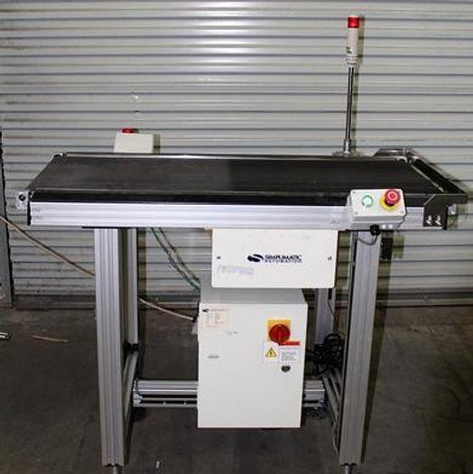 Used Simplimatic 2170 Flat bed exit conveyor, variable speed 2007