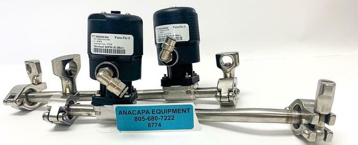 "Used ITT Industries Pure-Flo .5"" APBT6 Advantage Piston Actuator Lot of 2 (8774)W"