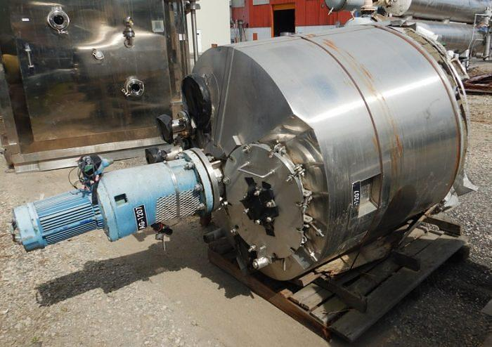 Used 250 GALLON ALLOY FAB REACTOR - S/S - 50/100 PSI