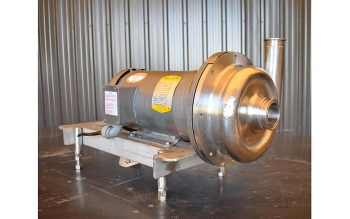 """USED AMPCO CENTRIFUGAL PUMP, 2"""" X 1.5"""", STAINLESS STEEL, SANITARY"""