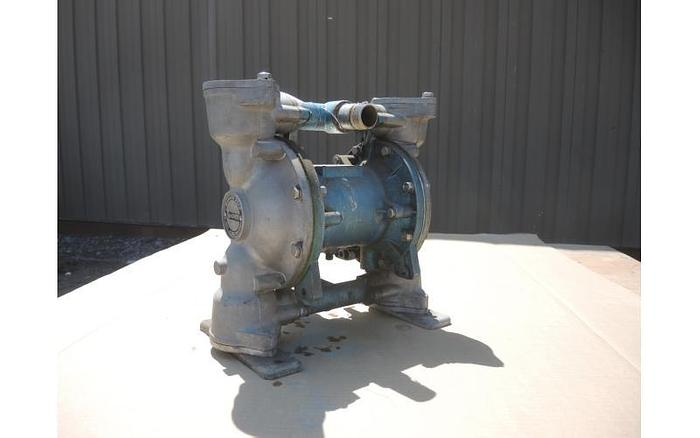 "Used USED DIAPHRAGM PUMP, 1"" X 1"" INLET & OUTLET, ALUMINUM"