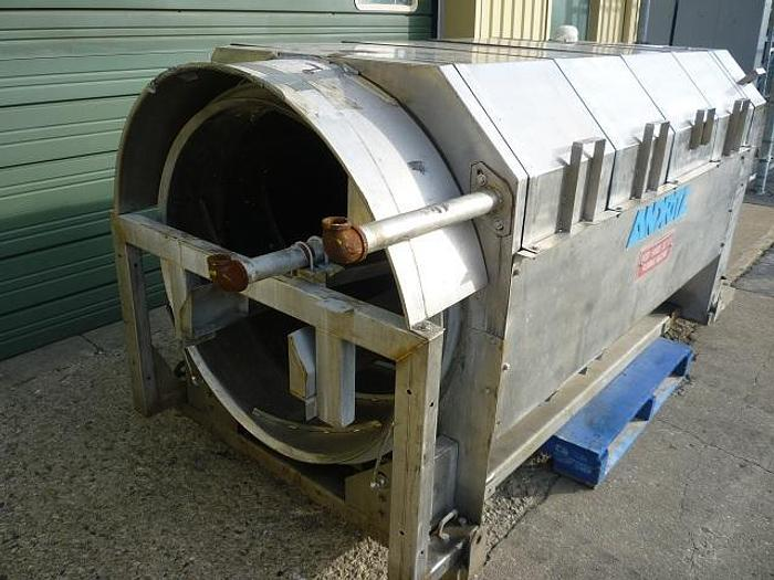 USED ANDRITZ ROTARY DRUM SCREEN, STAINLESS STEEL