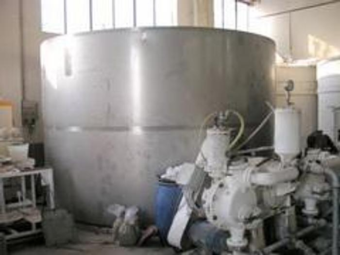 Used STAINLESS STEEL TANK FOR SLOW AGITATOR