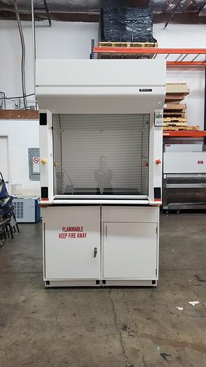 Used Fisher Hamilton 4ft Fume Hood w/ Flammable Storage