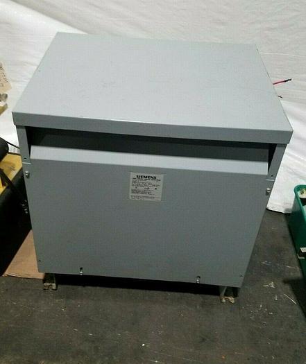 Used Siemens 30 KVA Transformer 480 Primary Voltage 208 Secondary 3 Phase