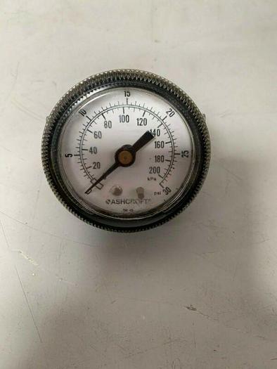 Used Ashcroft 0-30 PSI Pressure Gauge