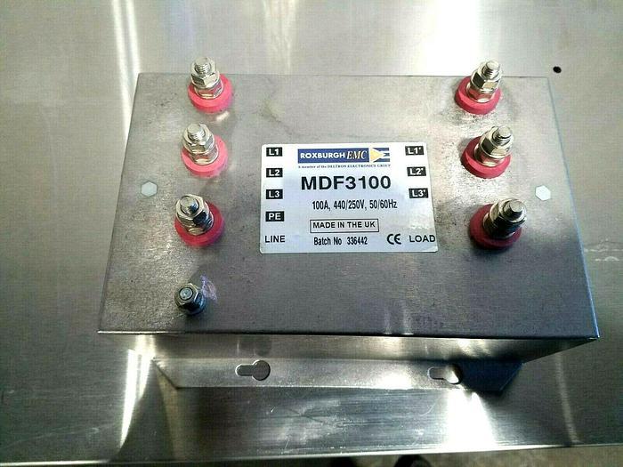 Used Roxburgh EMC MDF3100 Motor Drive Filter 100 AMP 3 Phase NEW!!