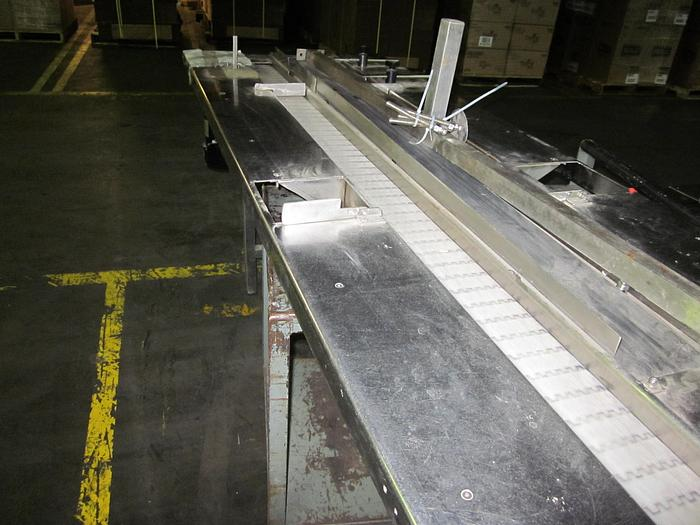 Used TWO LANE POWERED CONVEYOR