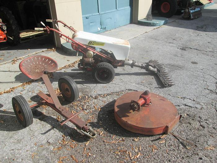 Used Vintage Gravely Walk/Ride Behind With Attachments