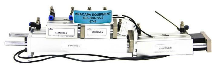 Used Nitra E16M150MD-M E16M075MD-M E12M030MD-M Pneumatic Air Cylinder Lot of 4 (6749