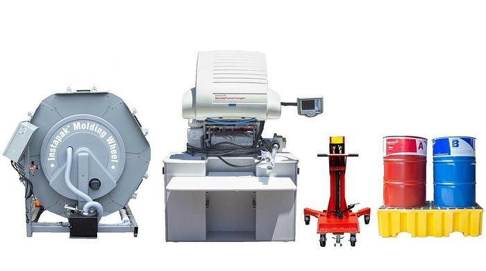 Used Sealed Air Instapak Speedy Packer Insight SP5-1552 + Instapak Molding Wheel 7302