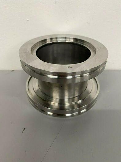 "Used Stainless Steel Cylinder 3 5/8"" KF Vacuum Fitting"