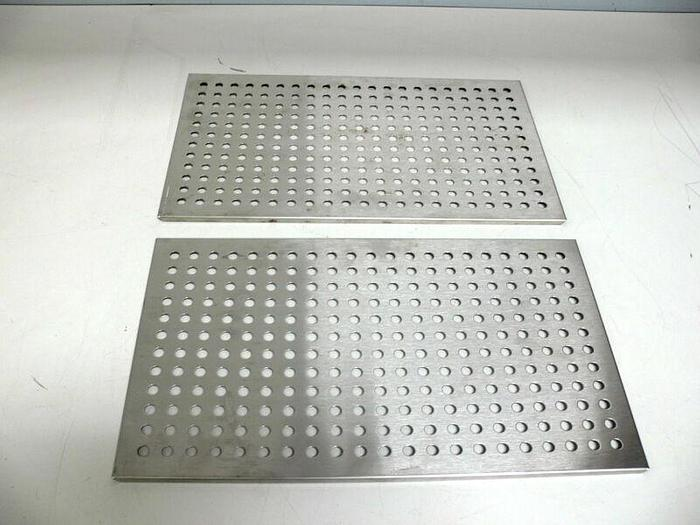 "Used Lot of 2 Stainless Steel Incubator Shelves 10"" x 16.75"""