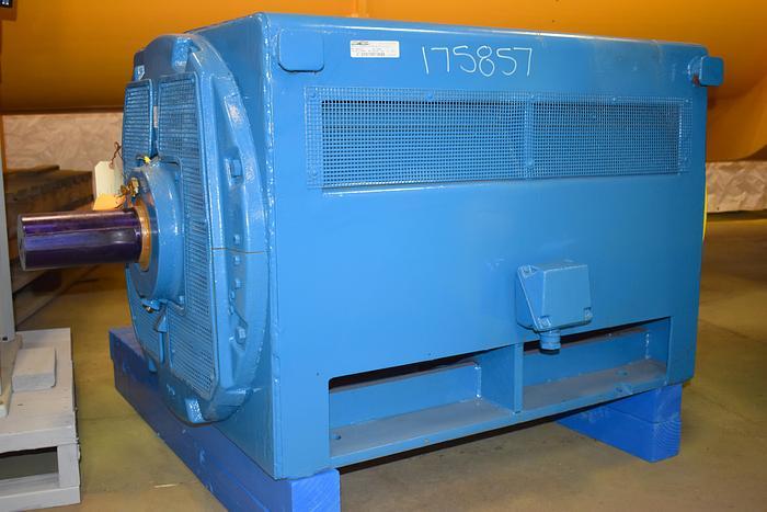 Refurbished 600 hp GE electric motor, model 5K828837D2, 2300 volt, 1800 rpm,