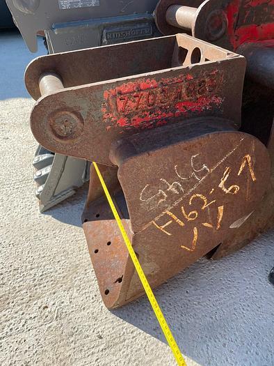 Gebraucht Tieflöffel 37 cm Arbeitsbreite mit Lehnhoff MS03 Aufnahme