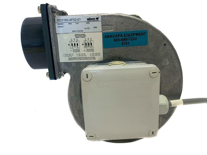 "Used EBM-Papst G2D160-AF02-01 Fan 10.6"" x 10.2"" x 5.15"" AC Centrifugal Blower (8761)W"