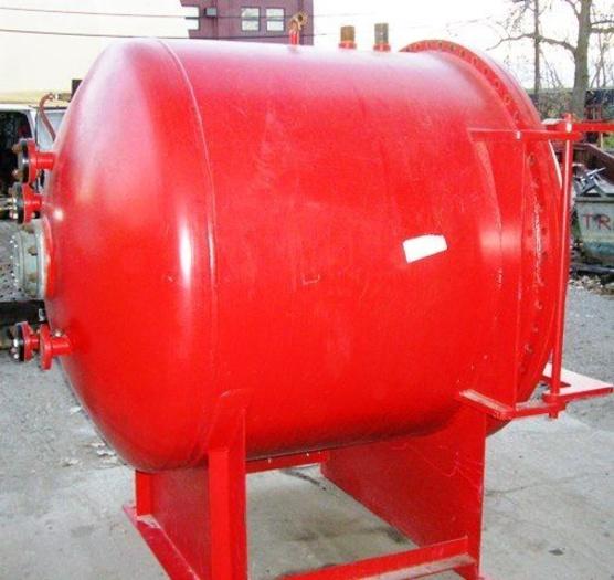 Union Tank Works Pressure Vessel: Natl. Bd 150 PSI@500oF.