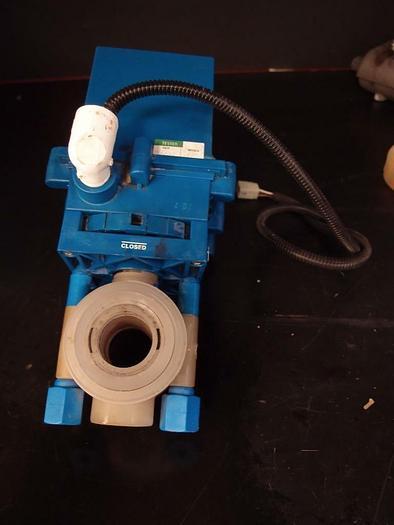 Used True Blue EBV-104 Plast-O-Matic Electric Actuator (3469)