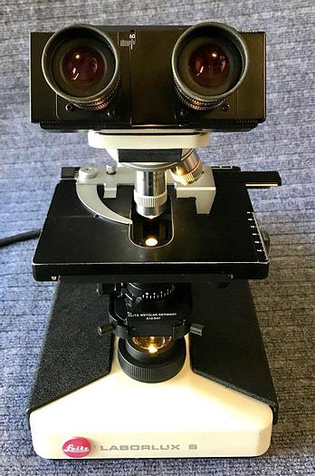 Used Leitz Laborlux S Microscope with 4 objectives, x4, x10, x20, x40