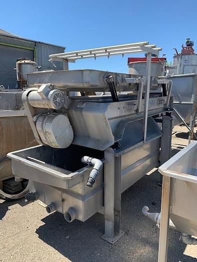 Used HMI/ Heinzen Dewatering Shaker  - Double Sided Parabolic Screen with Recovery Tank XB36x60