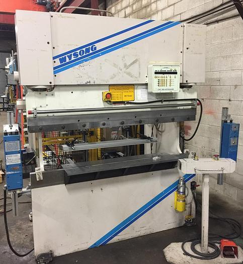Used 60 TON X 6', WYSONG, CNC HYDRAULIC PRESS BRAKE