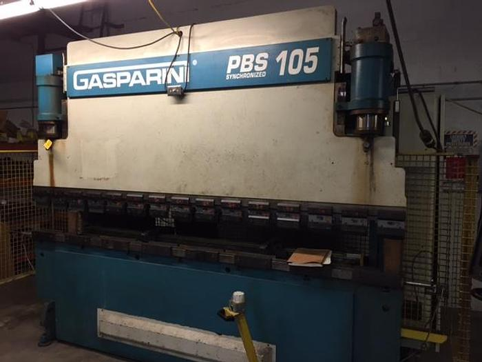 Used 110 TON GASPARINI CNC HYDRAULIC PRESS BRAKE