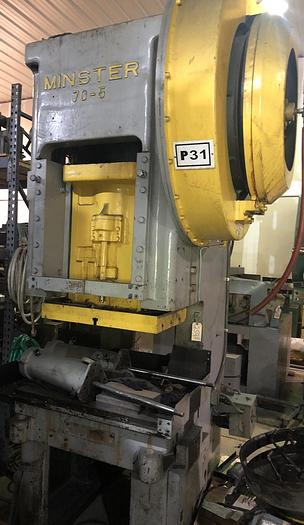 "Used 90 Ton, MINSTER 70-5 OBS, 4""Str, GAP FRAME PUNCH PRESS"