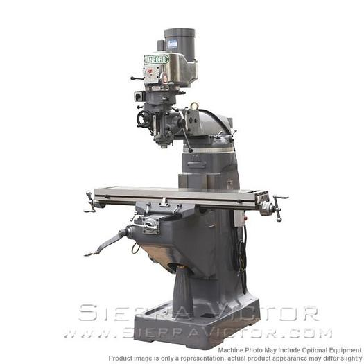 "MANFORD Precision High Quality 2V Vertical Turret Milling Machine with 9"" x 42"" Table"