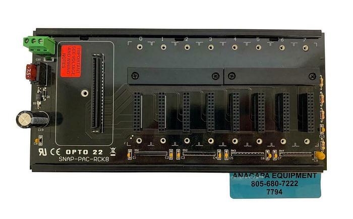 Opto 22 SNAP-PAC-RCK8, 8 Module Rack (7794)W