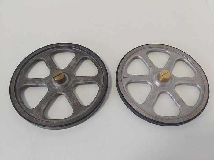Gebraucht 2 Stück Messräder mit Spannzange, MRG 500, Lenord & Bauer,  gebraucht