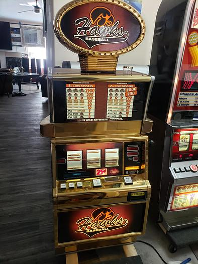 Used IGT Baseball themed Slot Machine , Hawks Baseball
