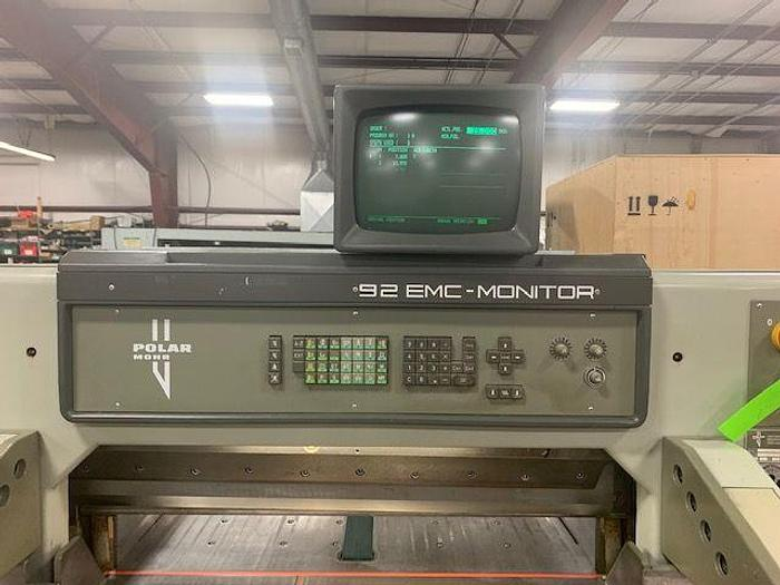 "Used 36""  POLAR MDL. 92 EMC GUILLOTINE CUTTER"