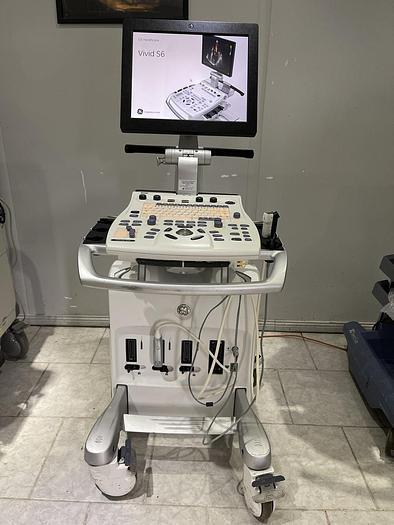 Gebraucht GE Vivid S6 Ultraschallgerät mit 2x Sonden und Sony Drucker