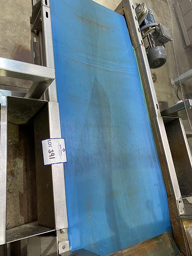 Used Stainless Steel Conveyor 1.8m L 0.7m W