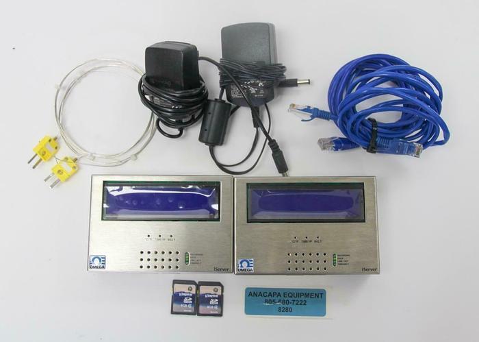 Used Omega iSD-TC iServer Dual Thermocouple Temperature Logger Lot of 2 (8280) W
