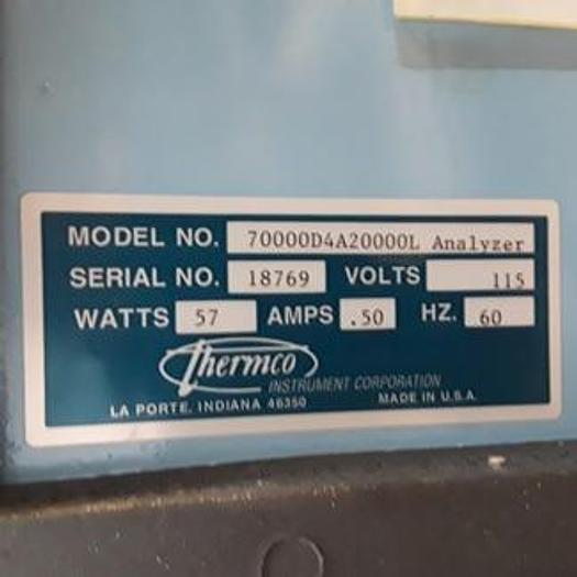 Used Thermco 70000 Gas Mixer Analyzer